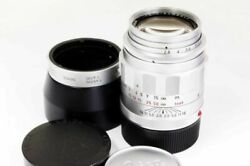 Leica Tele Elmarit-m 90mm F2.8 Telephoto Lens Silver Excellent From Japan F/s
