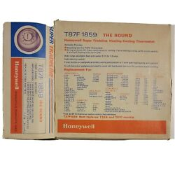 Nib Honeywell T87f 1859 The Round Heating-cooling Thermostat