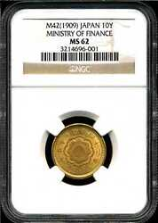 Japan M421909 10y Gold Ministry Of Finance Ms62 Ngc 3214696-001