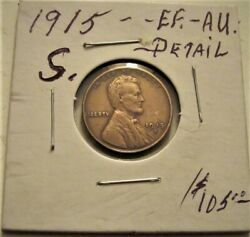 Higher Grade 1915 S. Lincoln Wheat Cent Penny Lot X.f./au. Detail.