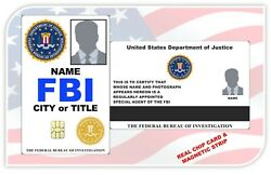 Fbi Ids Film / Stage / Cos-play / Collectible / Your Project