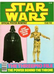 Wow Star Wars Official Poster Monthly 5 C-3po Chewbacca Darth Vader Poster