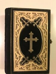 1870 German Miniature Catholic Bible In Excellent Condition.