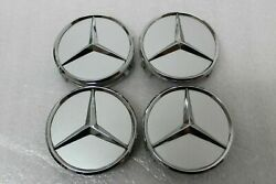 Set Of 4 Mercedes-benz Wheel Center Caps A2204000125 2204000125 Used