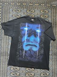 Vtg Undertaker Double Sided Aop Big Face Graphic Shirt Size Xl
