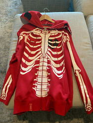 Lrg Lifted Research Group Dead Serious Hoodie - Vintage Rare Original Red Xl