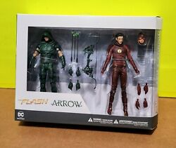 D.c.and039s Cw T.v. Series Flash And Green Arrow Combo Rare Action Figures