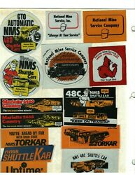 Nice Lot Of 40 Different National Mine Service Coal Mining Stickers 1006