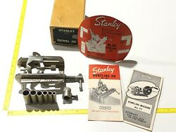 Stanley No.59 Dowel Jig Nos New Old Stock Tool With Ephemera Cabinetmaker Usa