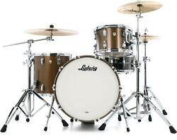 Ludwig Classic Maple Fab 22 3-piece Shell Pack - Vintage Bronze Mist