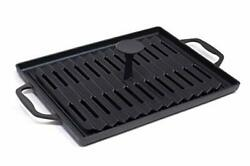 Grillville Usa Cast Iron Grill Pan And Press, Grill Pan And Weighted Press Set
