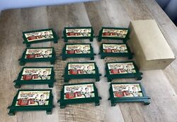 12 Vintage Plasticville O Scale Bb-9 Drive Carefully School Zone Billboard Signs