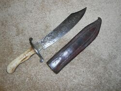 Old Vintage Antique, Knife, Dagger, Bowie, Handcrafted, Very Neat