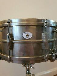 Ludwig 1935 Silver Anniversary 6.5andtimes14 Snare Nickle Over Brass Super Sens Rare