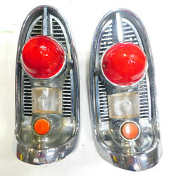 1956 Chevy Belair 210 150 Tail Light Assemblies Right And Left 1 Reconditioned