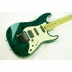 Schecter Ex-iv-22-ctm Used Blue Maple Top Ash Back Maple Neck/hard Case