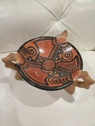 Vintage Native American Indian Or African Pottery 4.5 Tall 9 Diameter. H