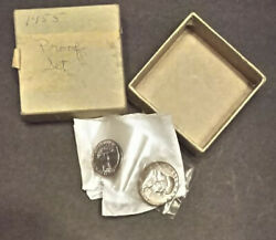 1955 U.s. Mint Proof Set In Original Mint Box And Cellophane 5 Coin Set Toned