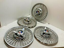 1962 1963 1964 Ford 14 Inch Spinner Wire Wheel Covers Hubcaps