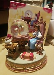Beauty And The Beast Snowglobe Lumiere Belle Mrs.potts Chip Disney Store Exclusive