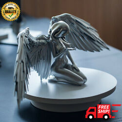 Figurines And Miniatures Silver Angel Wings Resin Crafts Desktop Ornaments Quality