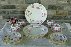 Vintage Spode Copeland's China Pink Roses Gold Band 20 Mermod-jaccard-king