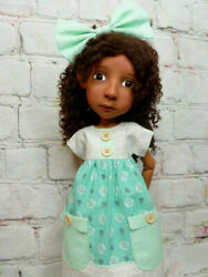 4pc Outfit For Connie Lowe 20 Big Stella, Meili And Hazel Doll Dress, Bloomers
