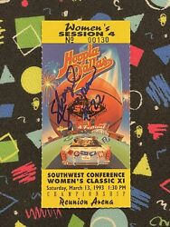 Sheryl Swoopes Signed Championship Final Ticket Texas Tech 53 Point Game Wnba