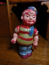 Mint 1940's Vintage Occupied Japan Happy Tar Celluloid Windup Toy