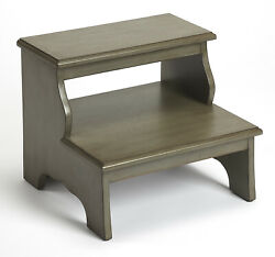 Canterbury Step Stool - Bed Steps - Silver Satin Finish - Free Shipping
