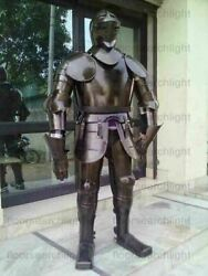 Full Body Suit Of Armor Antique Medieval Halloween Fully Armour Wearable Knight