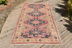 Caucasian Rug 60and039and039x125and039and039 Hand Woven Antique Vintage Sumak Kilim 154x319cm Wool