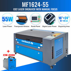 Omtech 60w 16x24 In. Co2 Laser Engraver Cutter Marker With Cw3000 Water Chiller