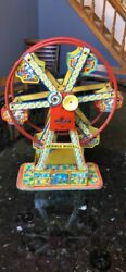 Rare Authentic 1930s J Chein And Co Usa Hercules Tin Wind Up Toy Ferris Wheel