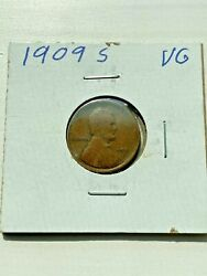 1909 S Lincoln Wheat Cent Penny Key Date Vg