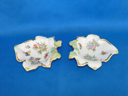 Herend Queen Victoria Serving Plate Pair Porcelain Vbo