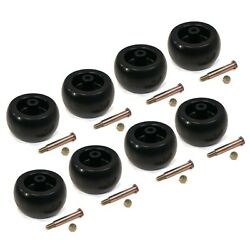 Pack Of 8 Heavy Duty Deck Wheels, Bolts For Toro 112-0677 And Grasshopper 484225