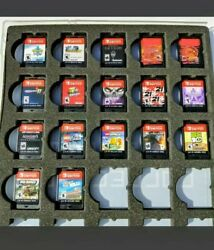 Nintendo Switch 17 Game Lot + Cartridge Case And Cellphone Premium Decals
