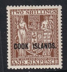 Cook Island 1946 Sg131 Up-wmk 2/6d Dull Brown Very Lightly Mounted Mint