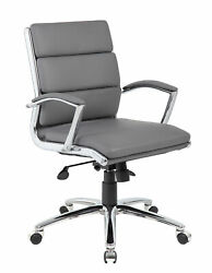 Boss Caressoftplus Executive Chair In Grey Finish B9476-gy