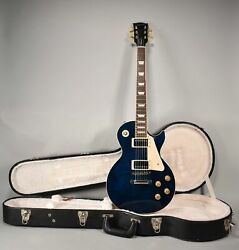 2013 Gibson Les Paul Traditional Blue Finish Electric Guitar W/ohsc