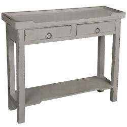 Sunset Trading Cottage 2 Drawers Console Table In Antique Gray Cc-tab2284ld-ag