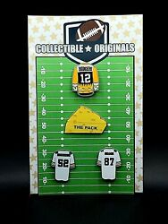 Green Bay Packers Jersey Lapel Pin Lot-classic Cheese Collection-4-collectibles
