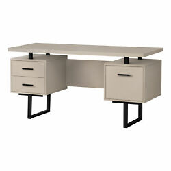 Monarch Modern Computer Desk With Taupe Finish I 7629