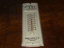 Vintage Kent Feed Advertising Thermometer Marengo Iowa Cow Pig Chicken Farm Sign