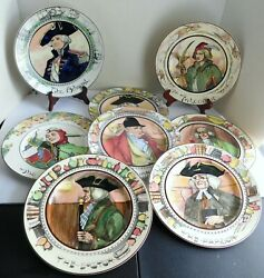 8 Antique Royal Doulton Professional Plates Doctor Squire Jester Admiral +