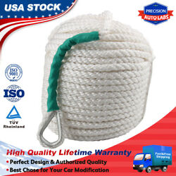 1/2x100and039 5850lb Twisted 3 Strand Nylon Anchor Rope Boat W/thimble Rigging Line