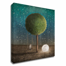 Tangletown Fine Art Tappy And The Moon By Greg Noblin On Canvas 8n372dc-1824