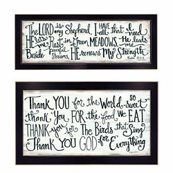 Trendydecor4u Thank You Lord 2-pc Vignette By Annie Lapoint Wall Art V439-712