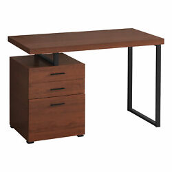 Monarch Modern Computer Desk With Cherry Finish I 7641